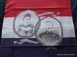 doek gemaakt t.g.v het huwelijk van Wilhelmina & Hendrik 1901