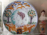 Porceleyne Fles bord Wilhelmina 1898