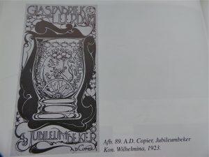 advertentie voor de A.D Copier glazen.