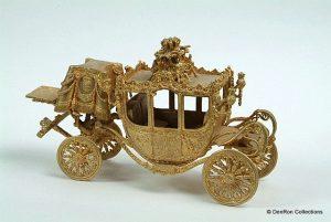 Miniatuur uitvoering van de gouden koets
