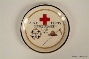 bordje gemaakt in 1934 t.g.v het overlijden van prins Hendrik