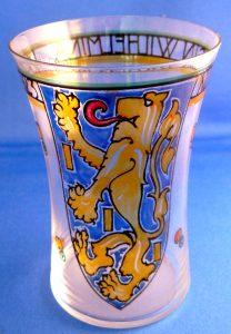 Zeldzaam 1923 glas oplage 100 stuks.