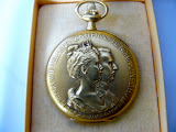 18 karaats gouden horloge Huwelijk Koningin Wilhelmina en prins Hendrik 1901