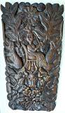 Moluks houtsnijwerk t.g.v de inhuldiging van Koningin Wilhelmina 1898 Wood carving made on the Indonesian Island Maluku in 1898 for the enthronement of Queen Wilhelmina