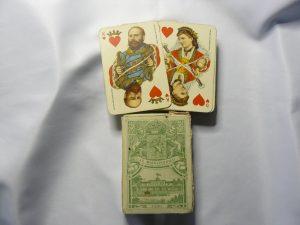 speelkaarten uit ca 1879 Batavia t.g.v het huwelijk van Willem III en Emma