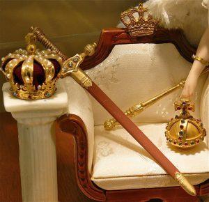 De regalia gemaakt voor de inhuldiging van Koning Willem II 1840