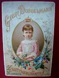 ca 1884 reclame gebroeders Dobbelman zeepfabrikant.