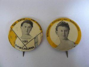 Buttons 1898 inhuldiging Koningin Wilhelmina