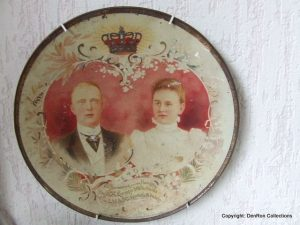 Blikken bord huwelijk Wilhelmina Hendrik